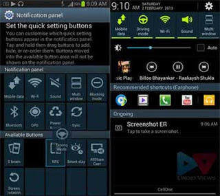 Samsung Galaxy SIII driving mode