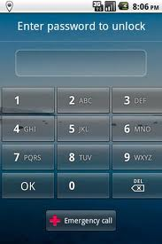 unlock password lock on android