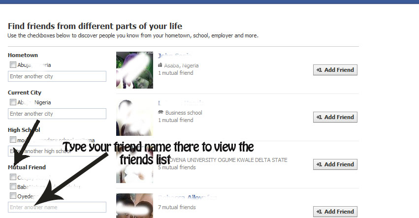 view hidden friends list on facebook