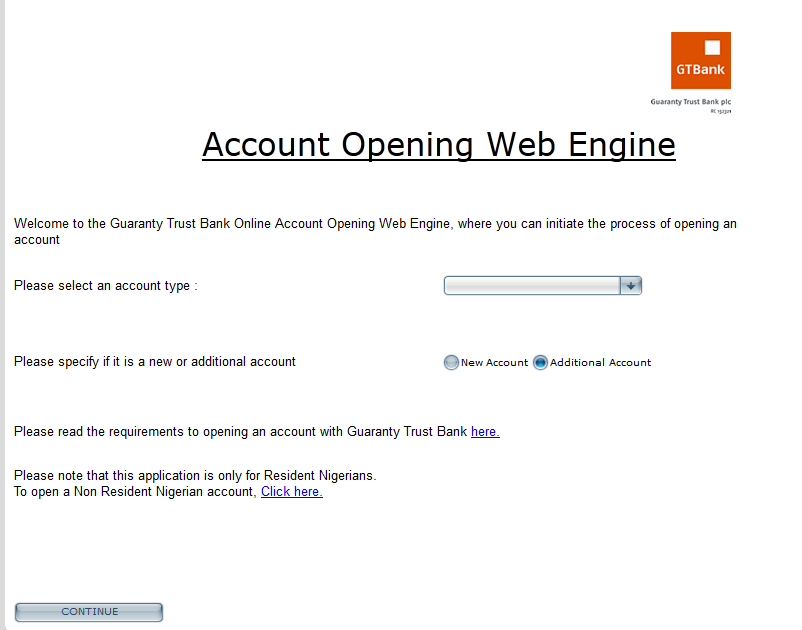 How to open a GT bank account online