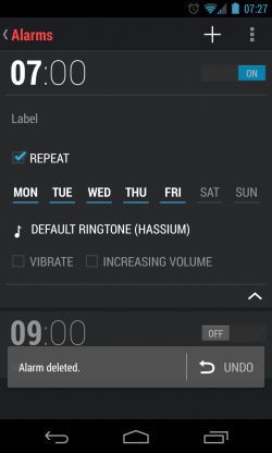 Android Alarm Options