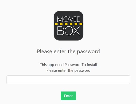 How to update Movie Box - Enter password before downloading Movie Box