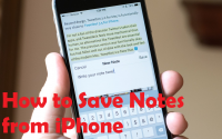 How to save notes from iPhone